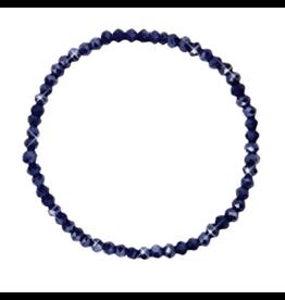 Armbandje strass blauwzwart