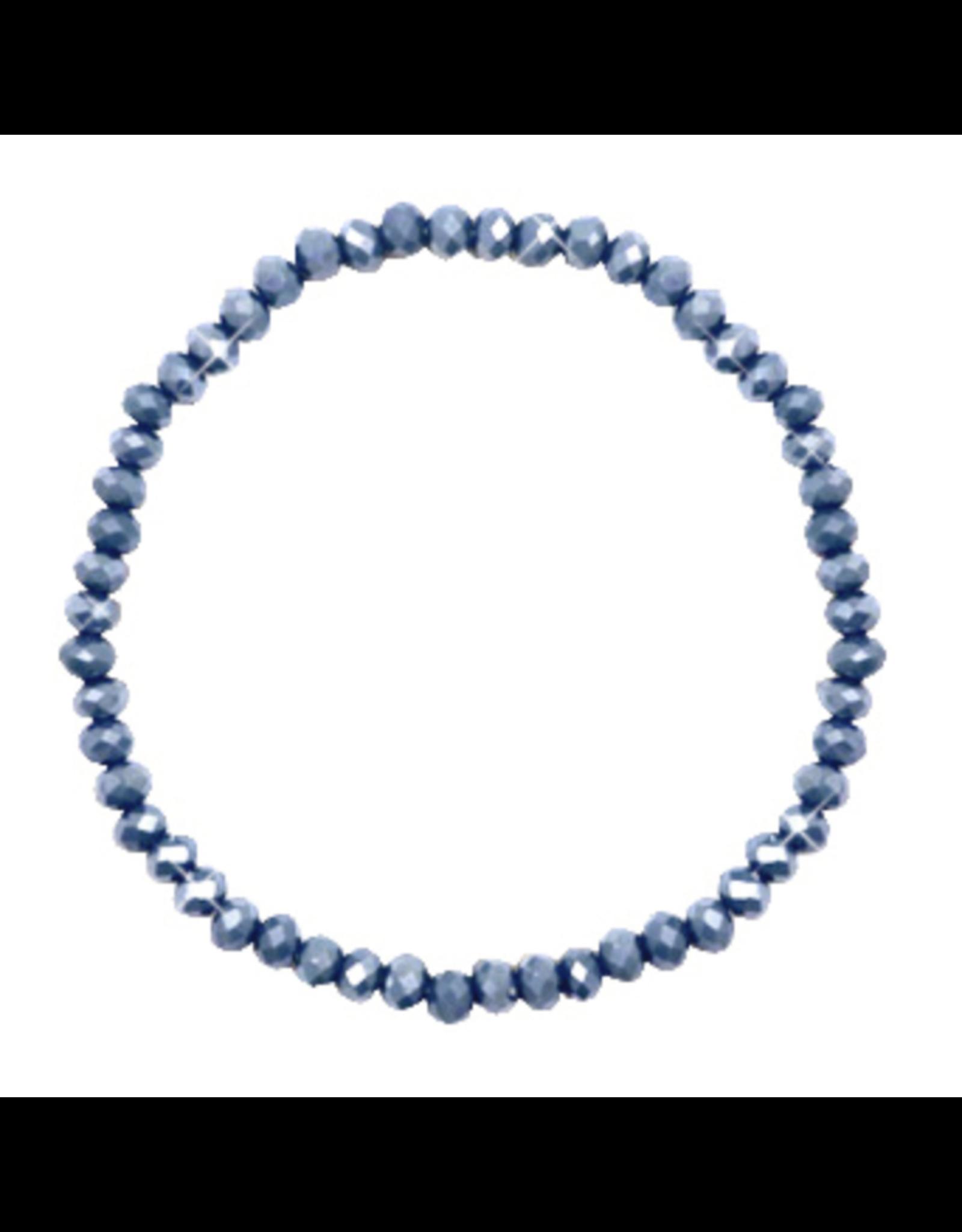 Armbandje strass grijsblauw