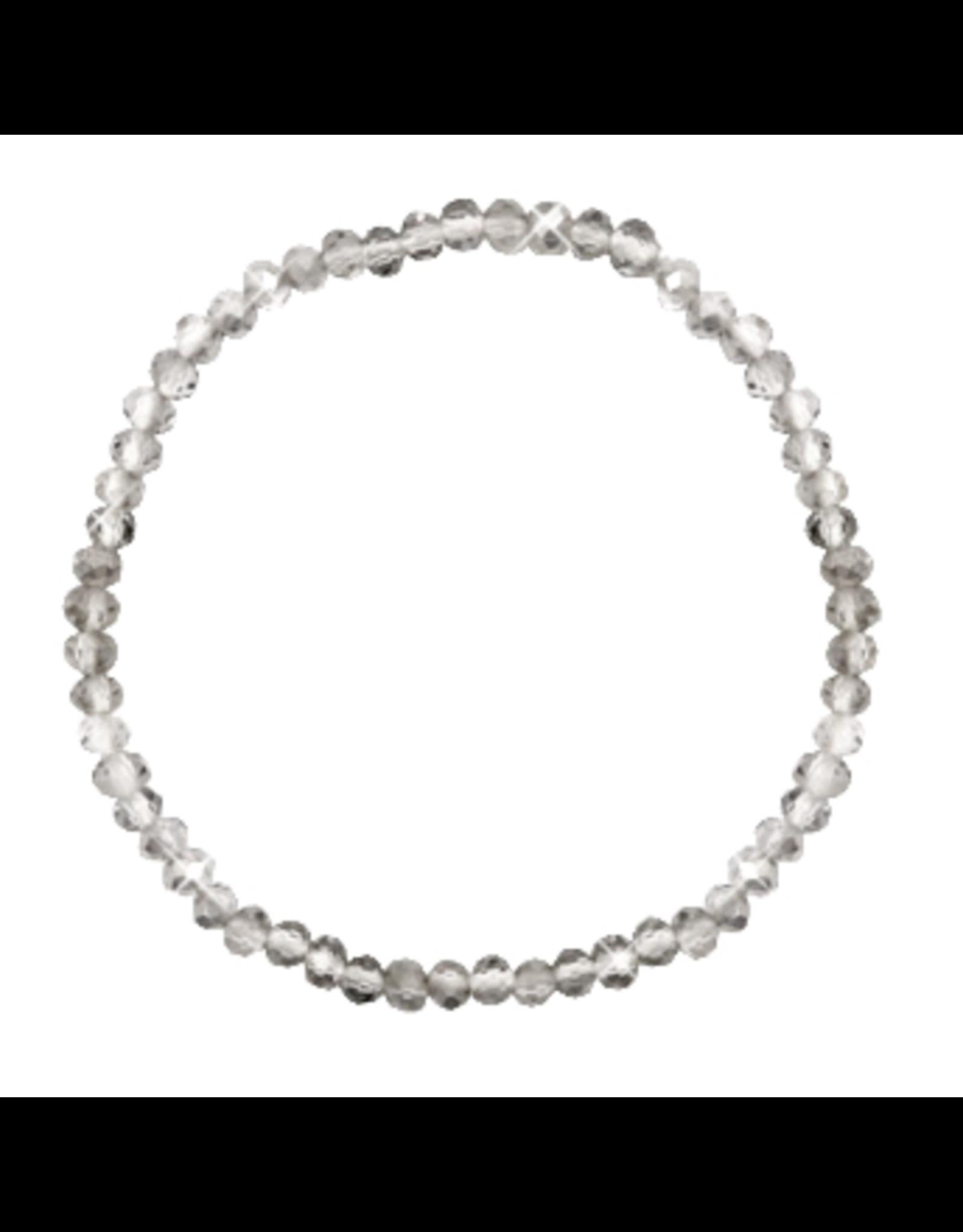 Armbandje strass transparant grijs