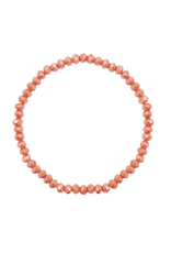 Armbandje strass koraal