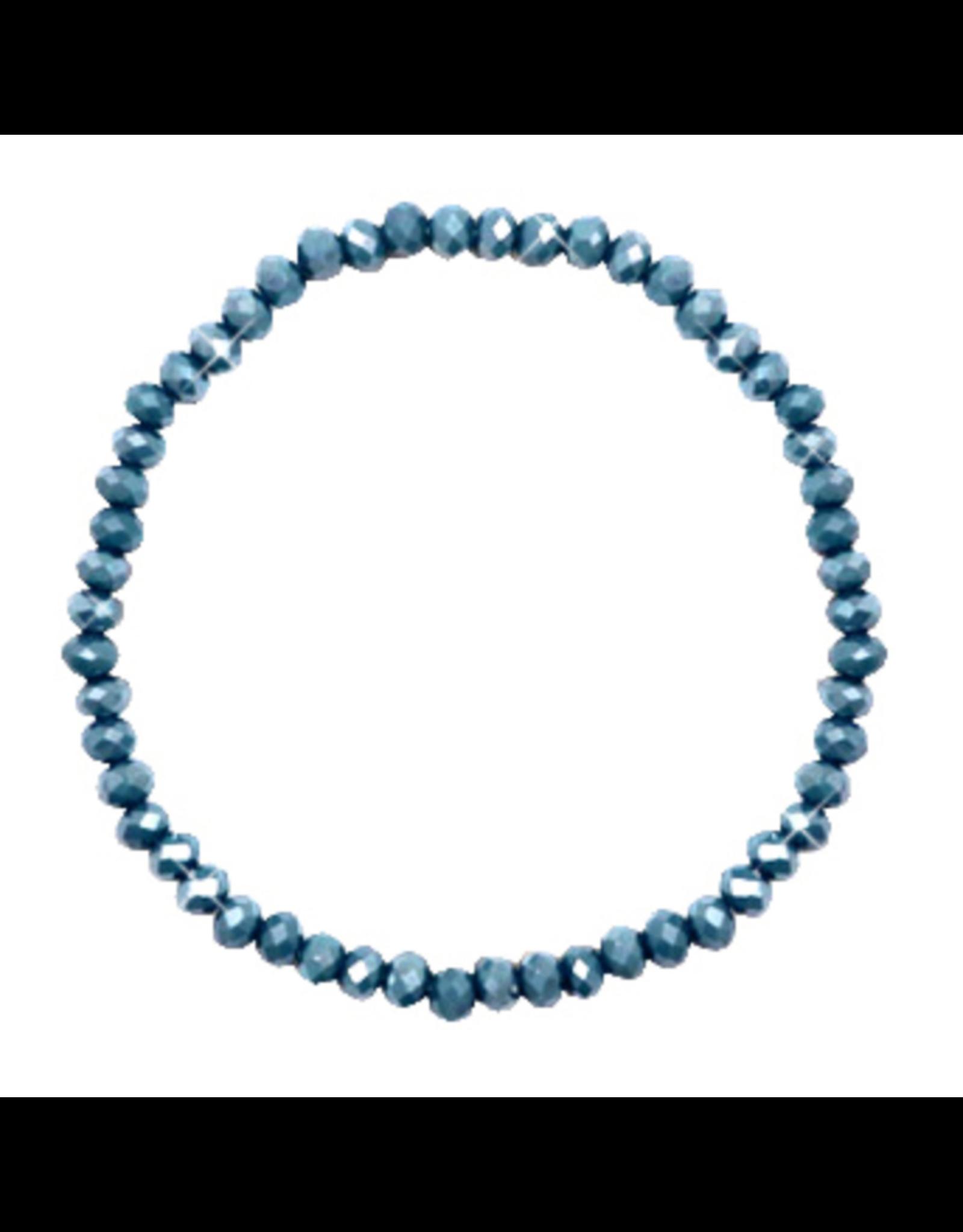 Armbandje strass jeansblauw