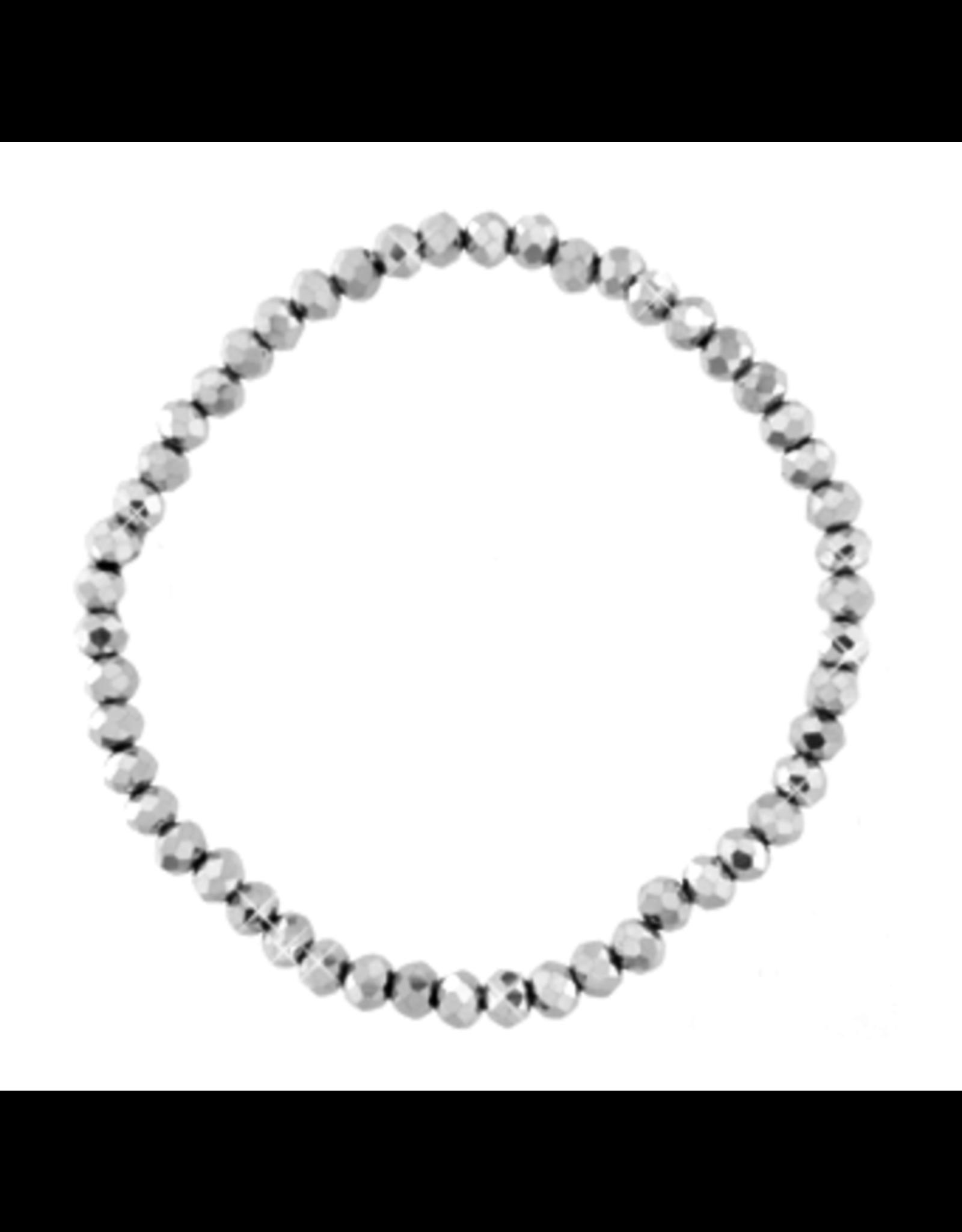 Armbandje strass zilver