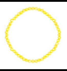 Armbandje strass geel