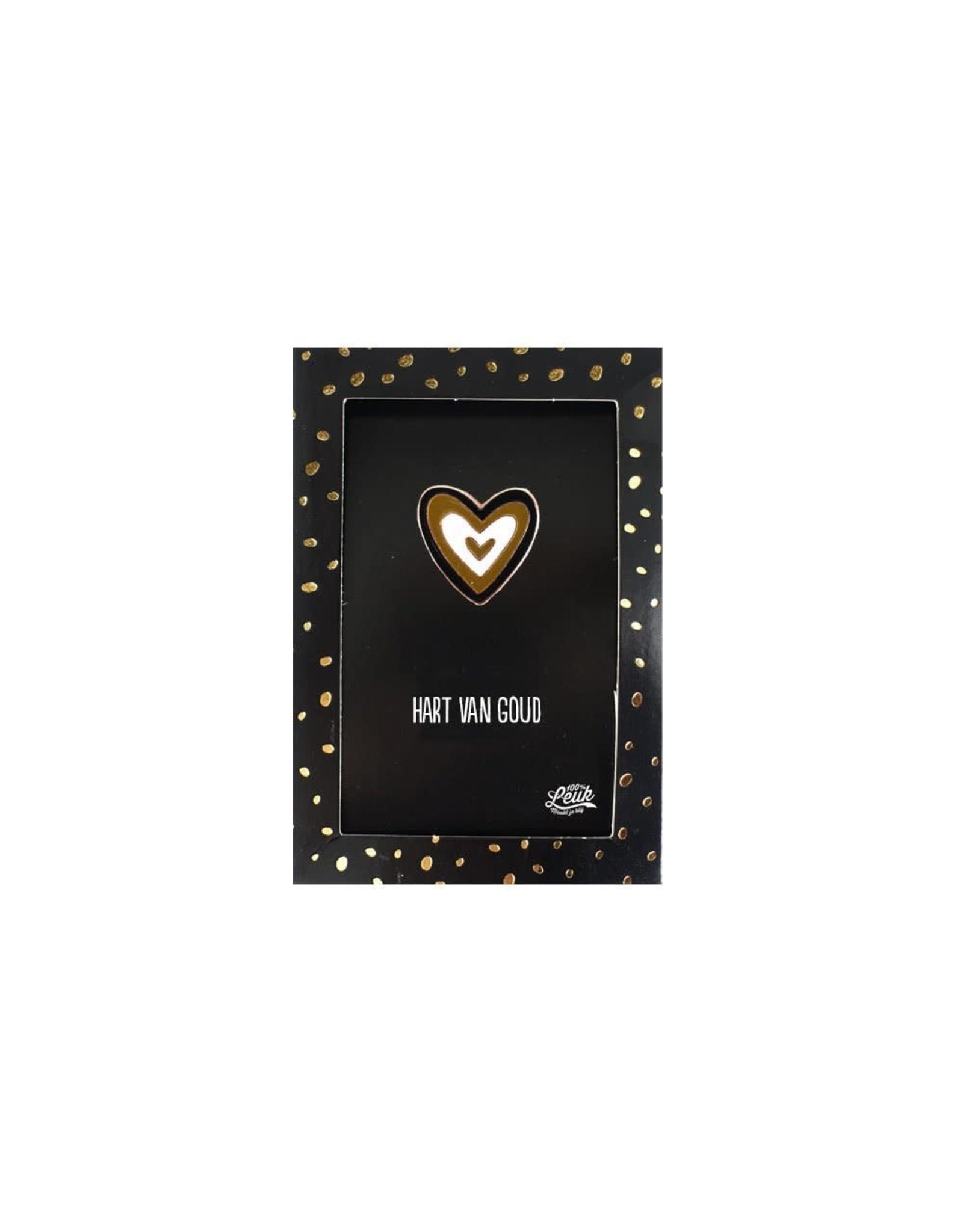 Pin Hart van goud