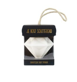 Zeep diamant aan touwtje Je bent schitterend
