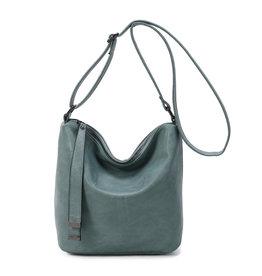 Handtas baggy recht blauwgroen