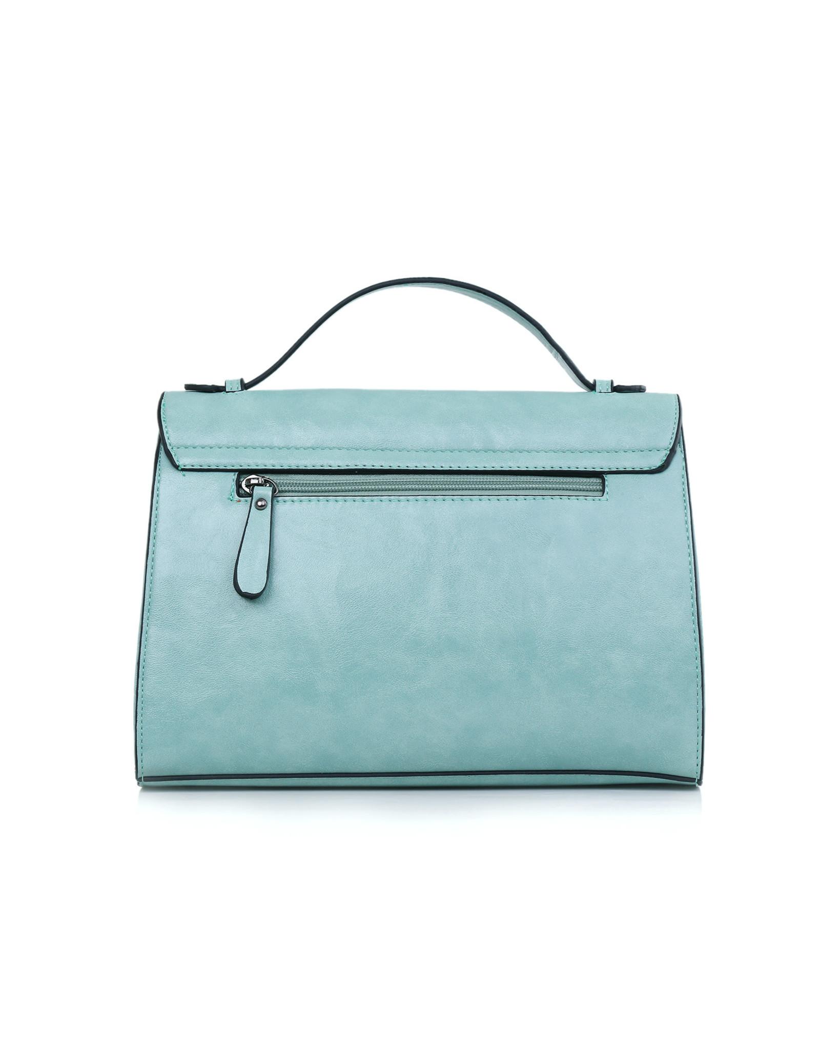 J&M: Handtas pastel blauw
