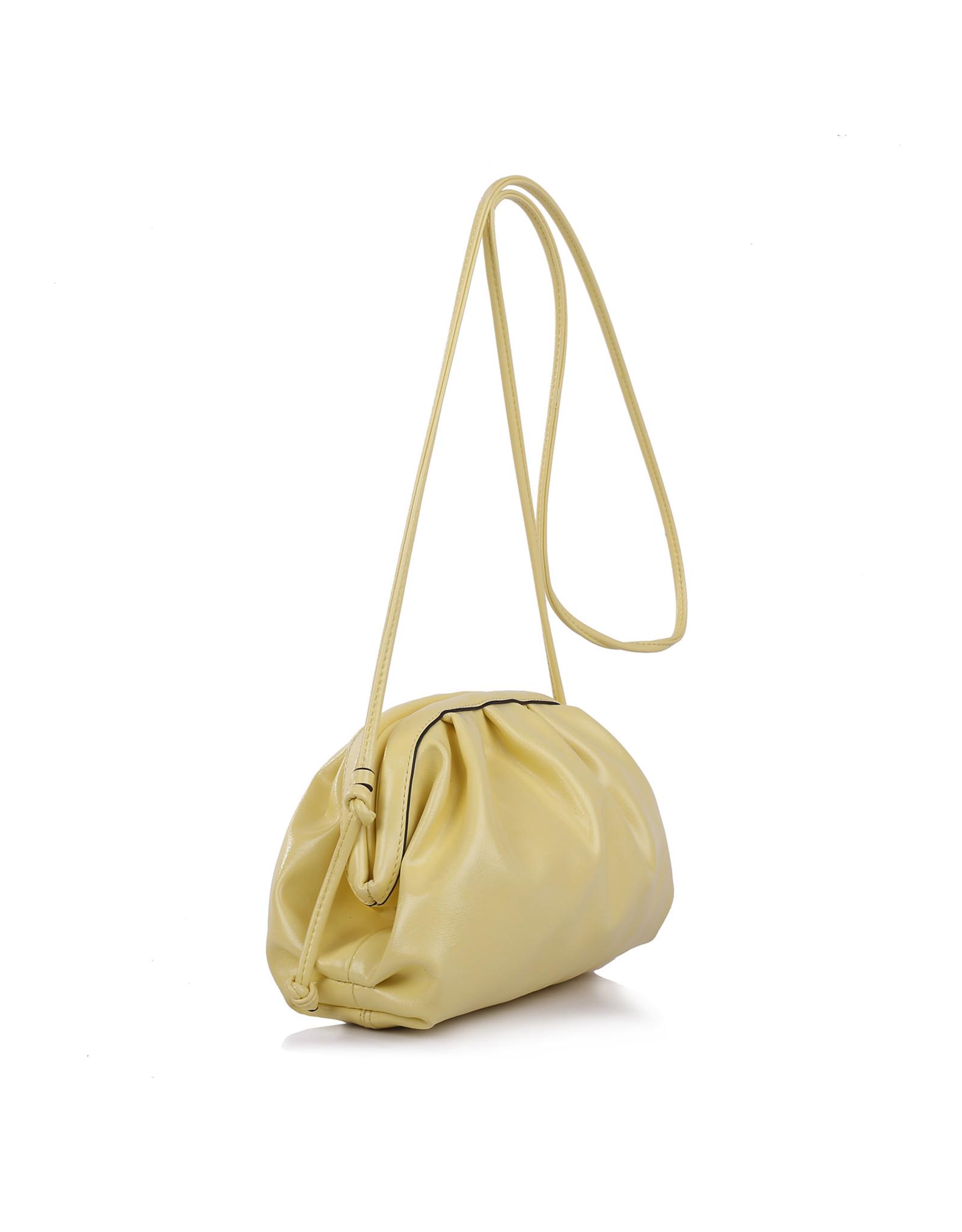Handtas pastel geel