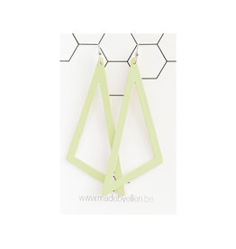 oorbEllen pastel driehoek XL munt