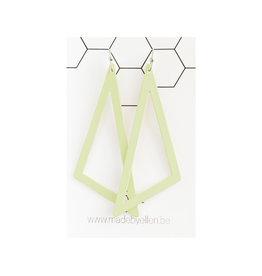PRE ORDER oorbEllen pastel driehoek XL munt