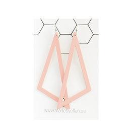 oorbEllen pastel driehoek XL roze
