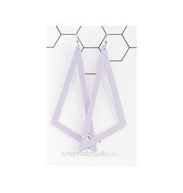 PRE ORDER oorbEllen pastel driehoek XL lila