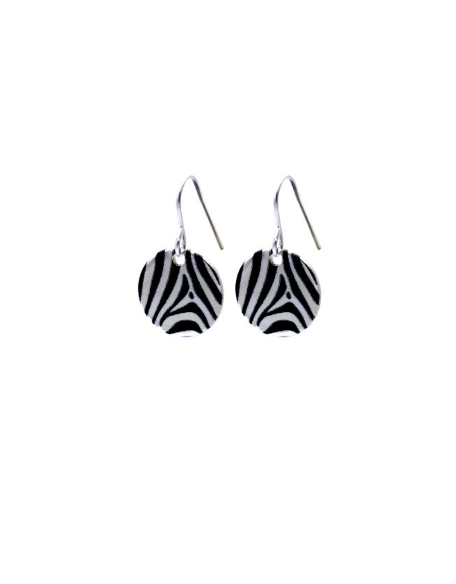 Hangertjes zilver 12mm zebra