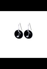 Hangertjes zilver 12mm muzieknoot