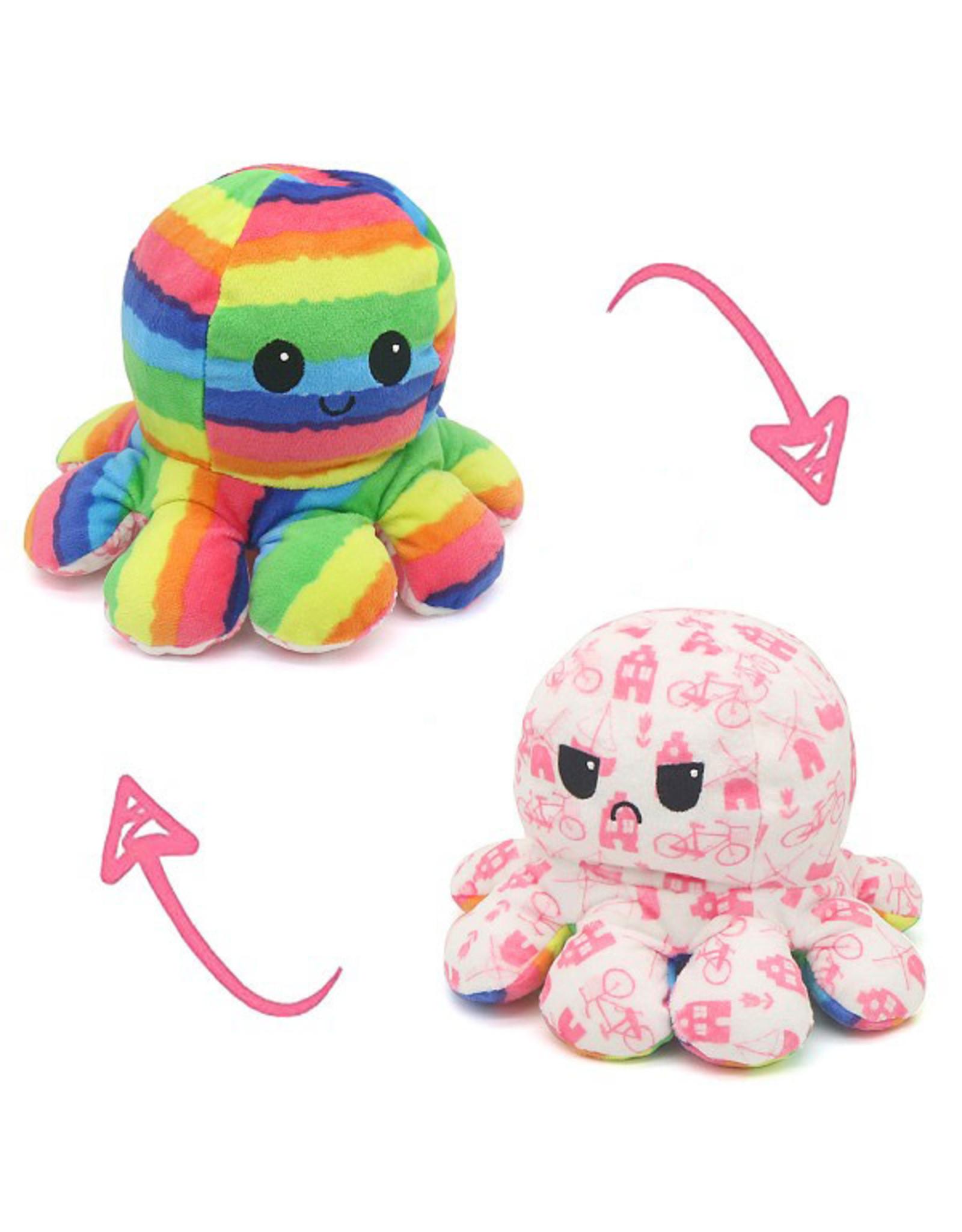 Omkeerbare octopus regenboog/roze