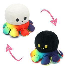 Omkeerbare octopus regenboog/zwart/wit