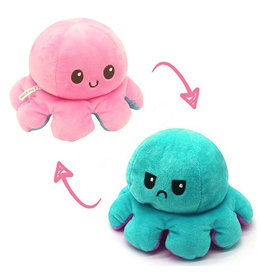 Omkeerbare octopus roze/turquoise