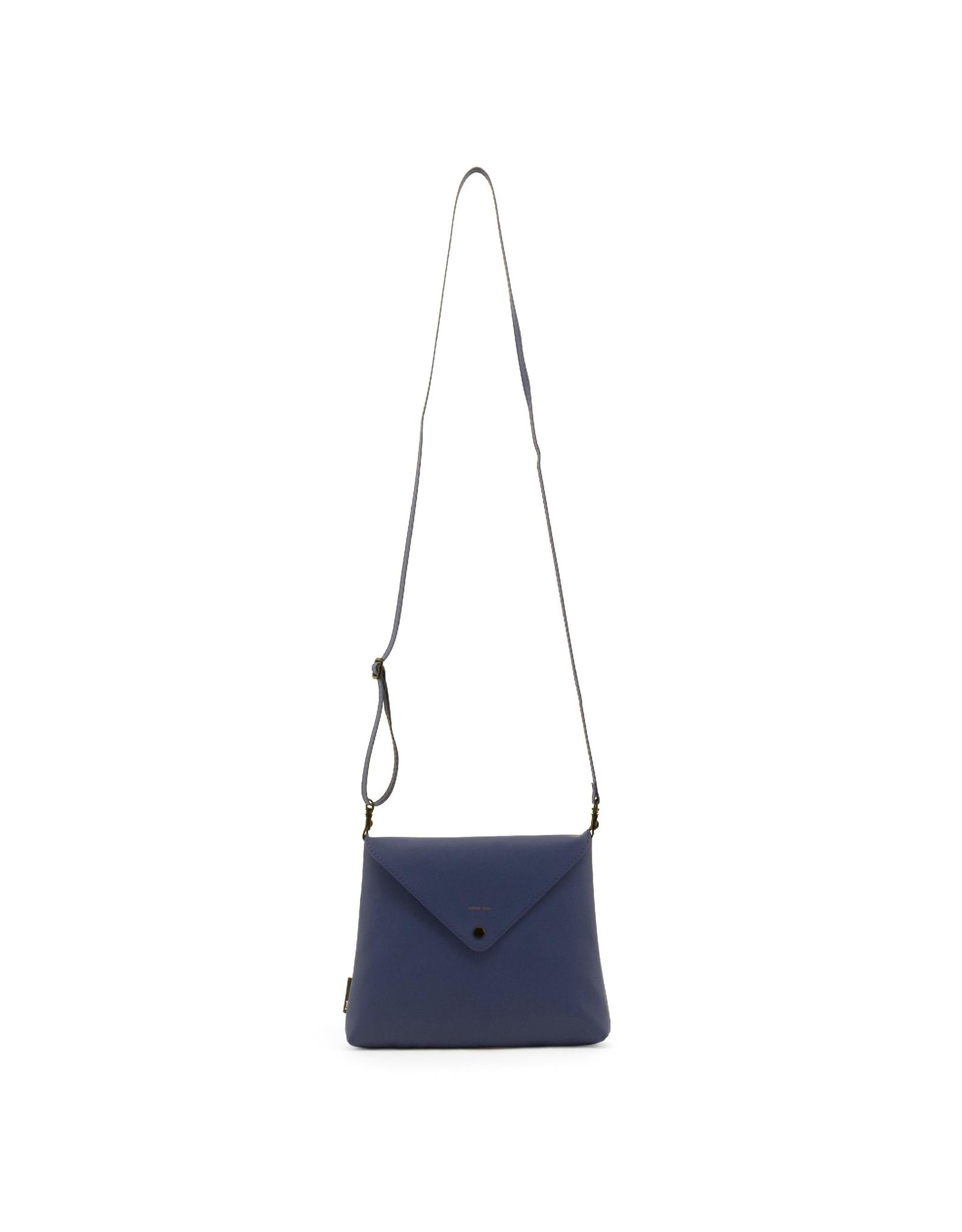 Handtas enveloppe blauw