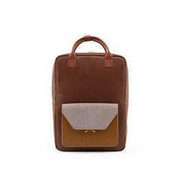 PRE ORDER Rugzak / laptoptas retro bruin
