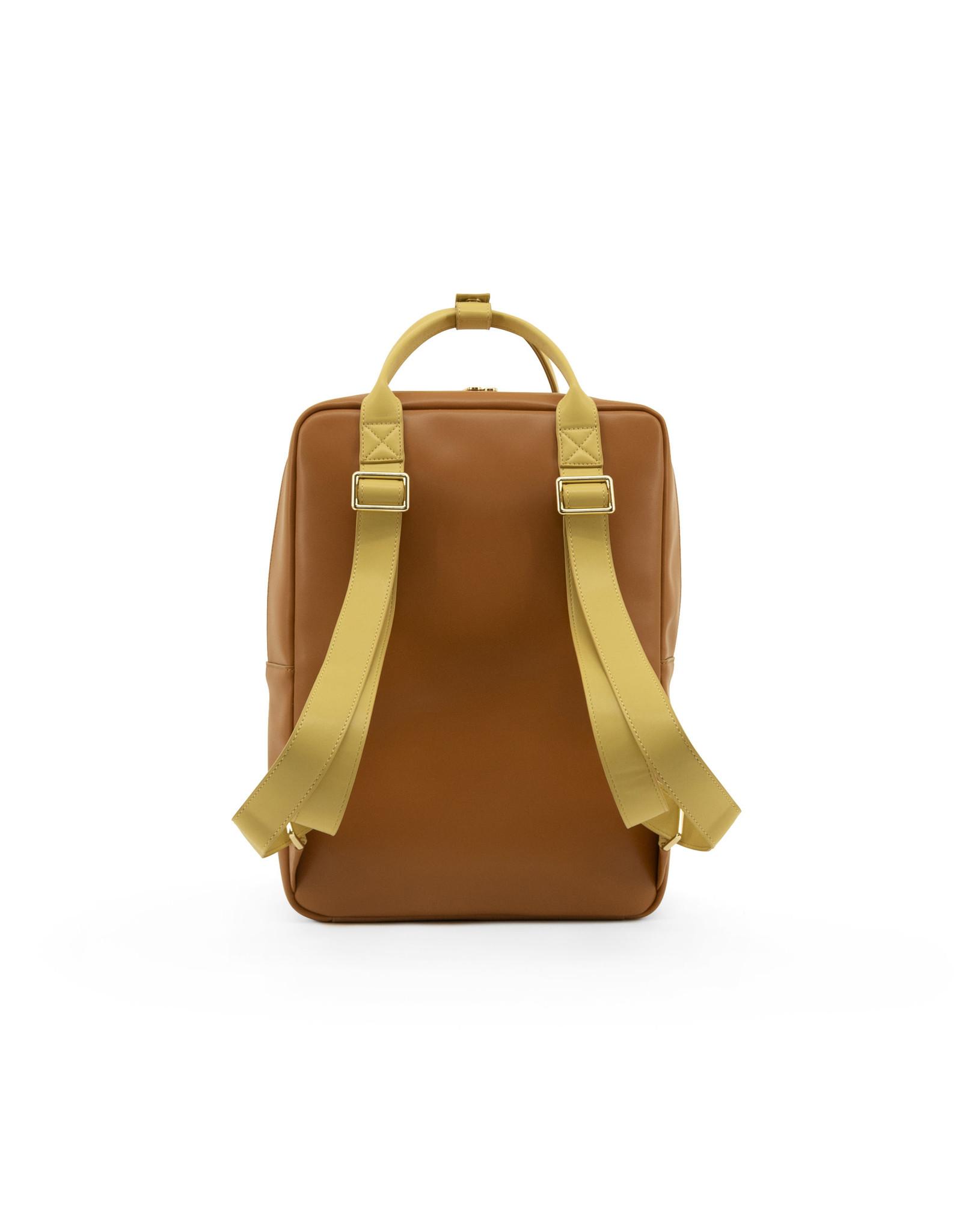 PRE ORDER Rugzak / laptoptas retro camel bruin
