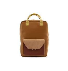 Rugzak / laptoptas retro camel bruin