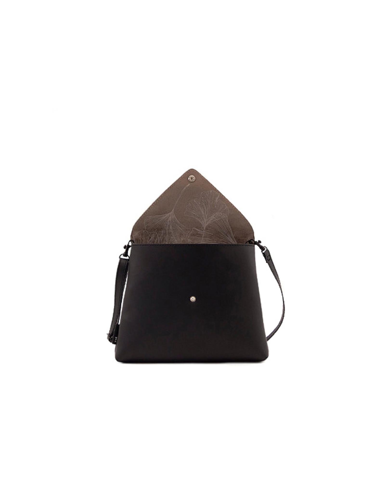 Handtas enveloppe zwart