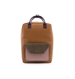 PRE ORDER Rugzak/laptoptas retro camel kaki roze