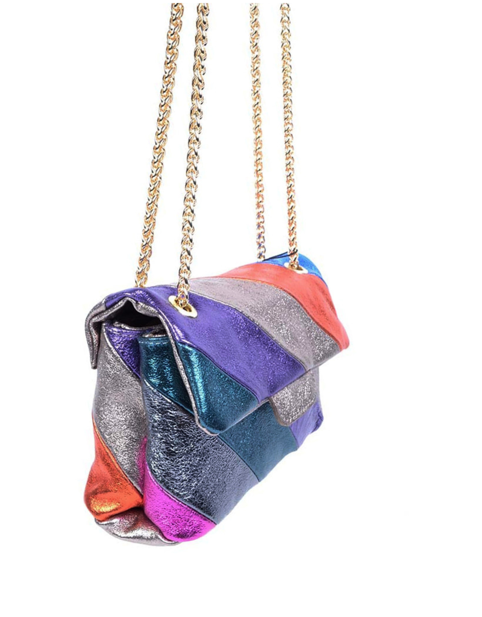 Handtas regenboog kleur M