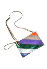 Handtasje/clutch regenboog brons paars