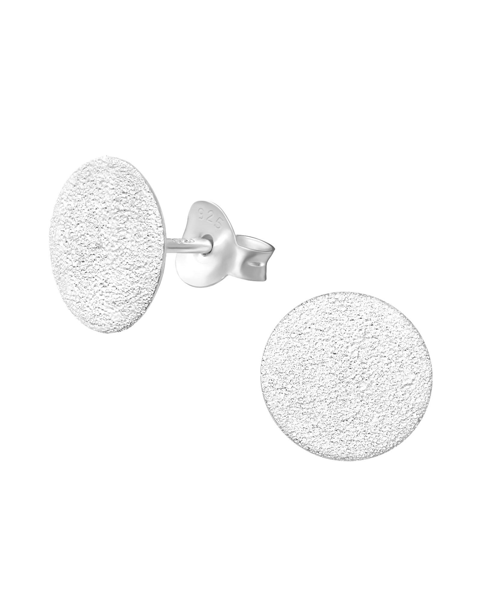 Stekertjes zilver schijfje mat 10mm