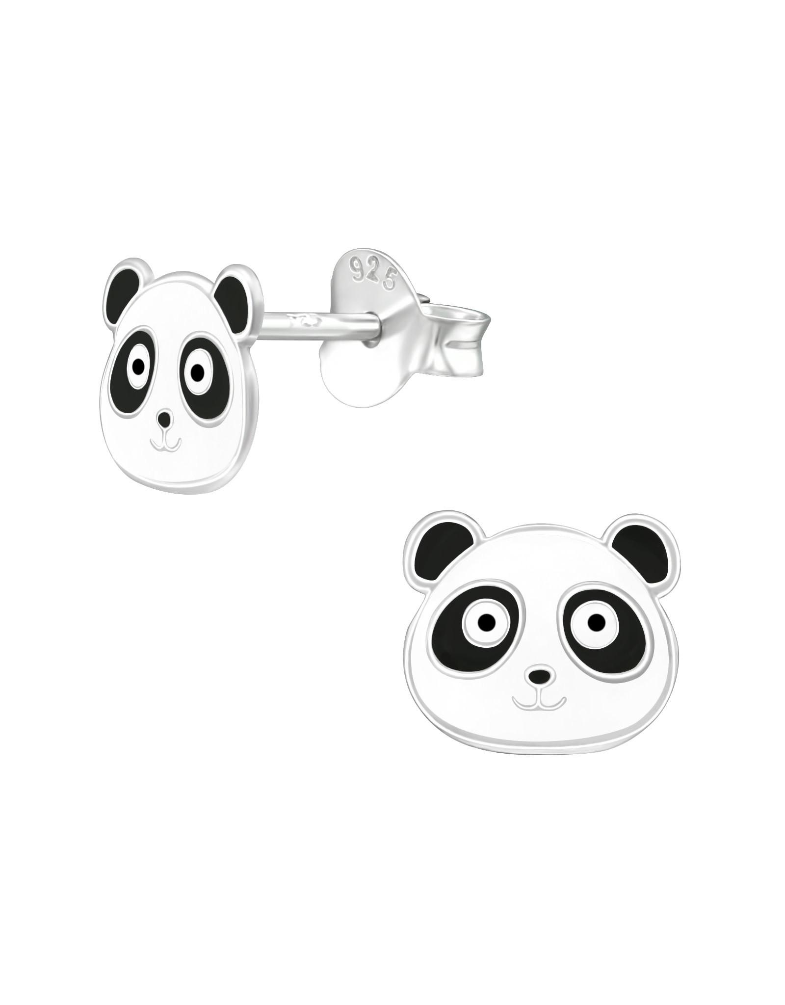 Stekertjes zilver panda hoofdje