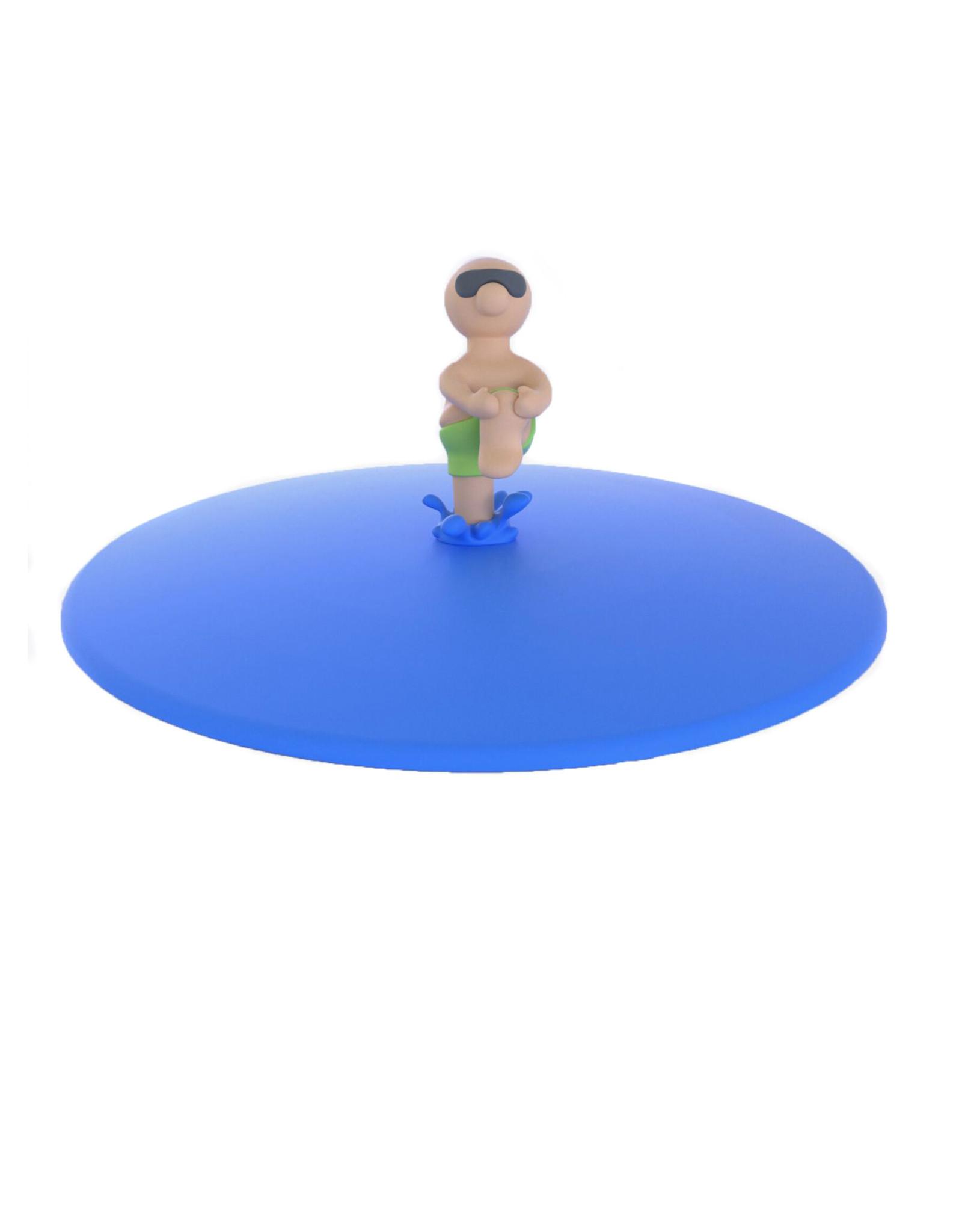 deksel glas mannetje water groen
