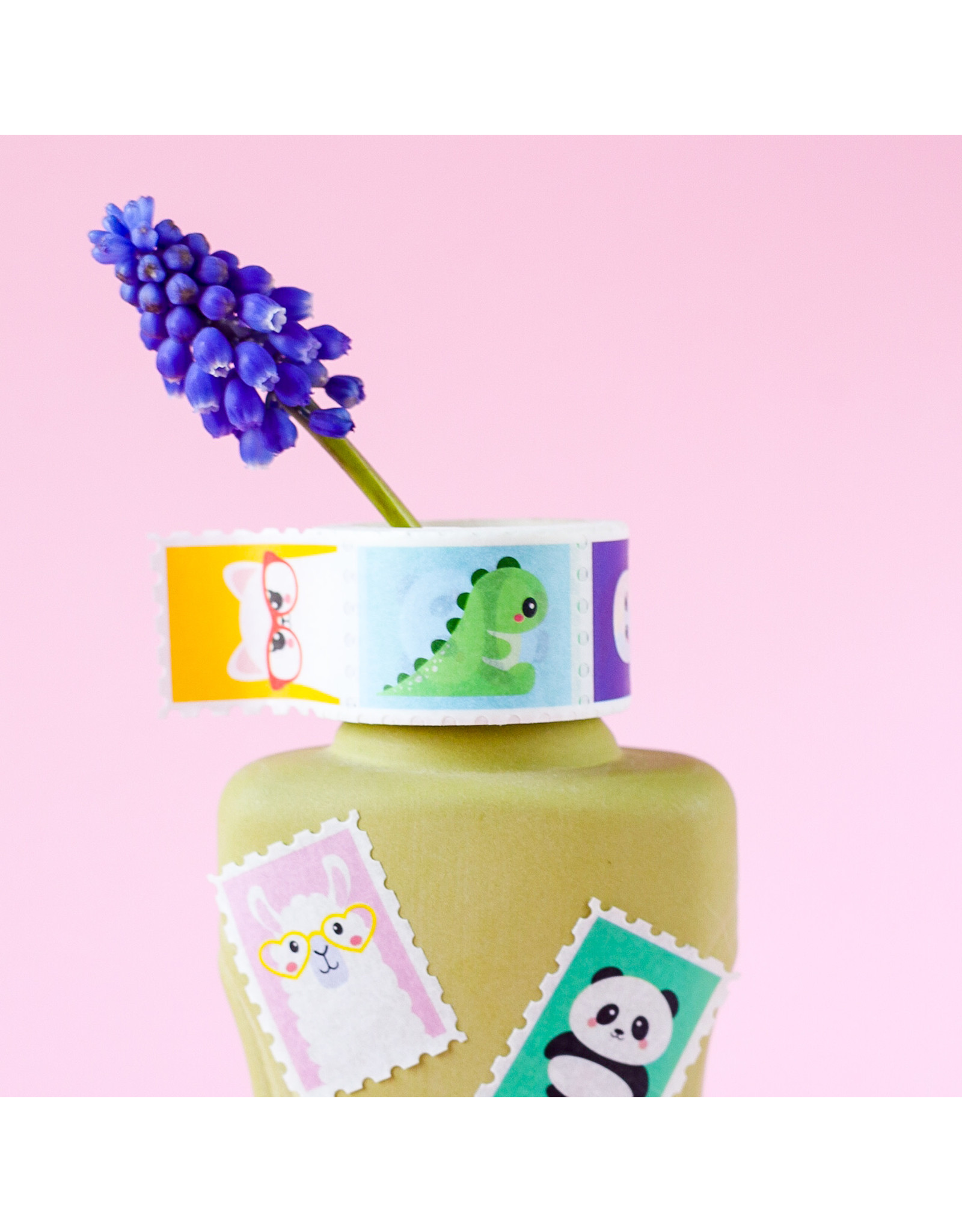 Washi tape postzegels figuren