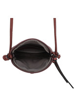Handtasje retro knop plum
