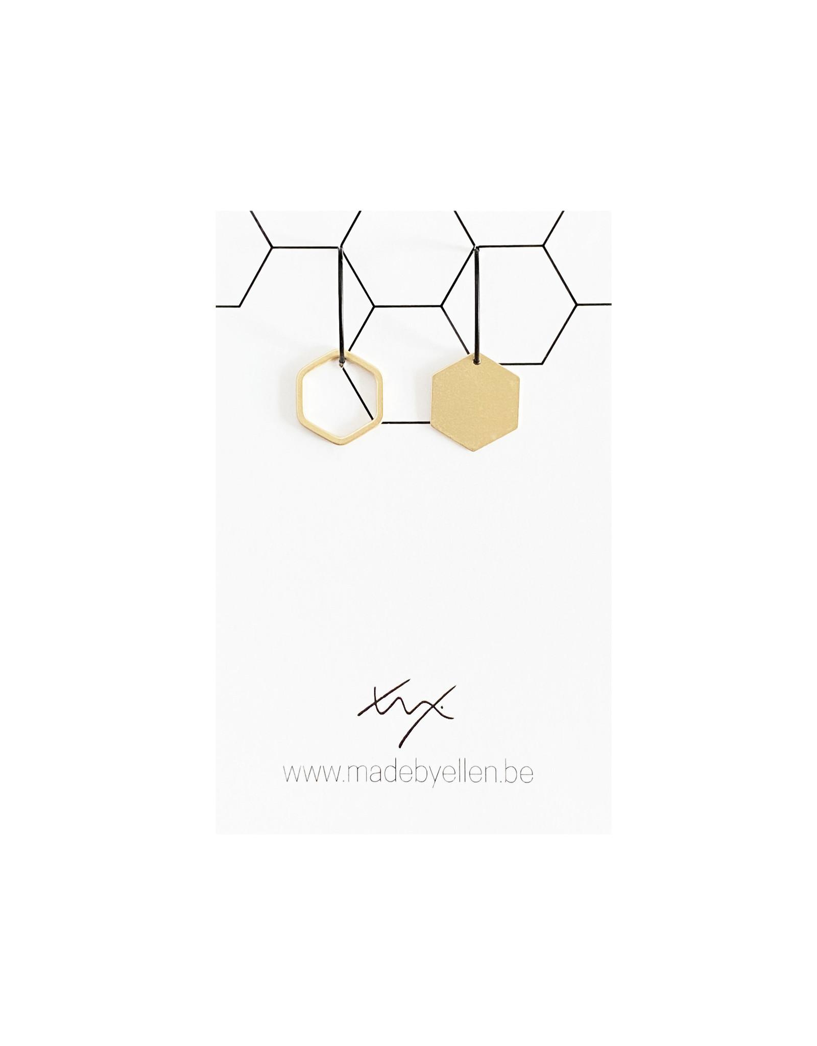 oorbEllen mix&match creolen zeshoek asymmetrisch
