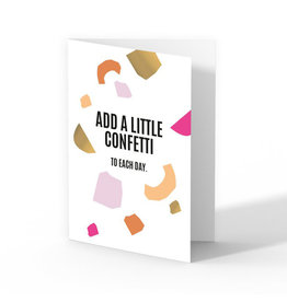 Kaart met enveloppe Add a little confetti