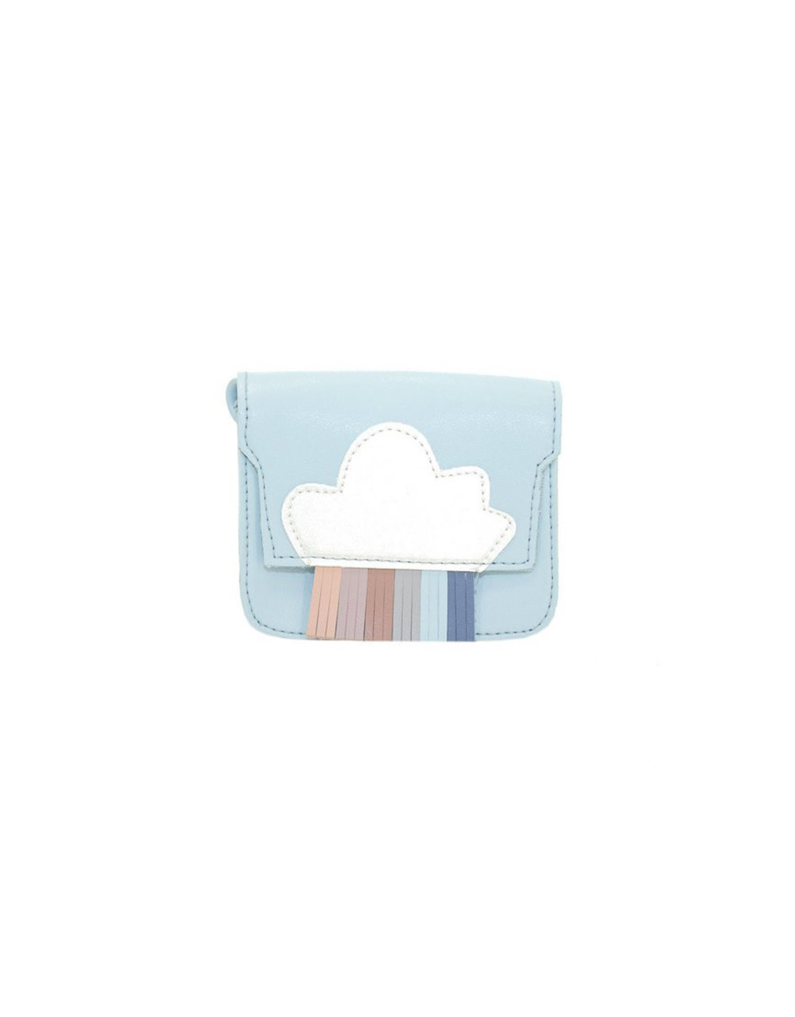 Handtasje regenboog blauw mini