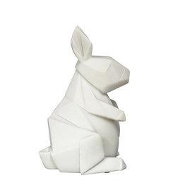Lampje konijn strak wit