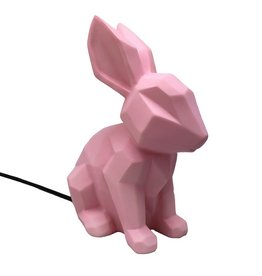 Lamp konijn strak roze XL