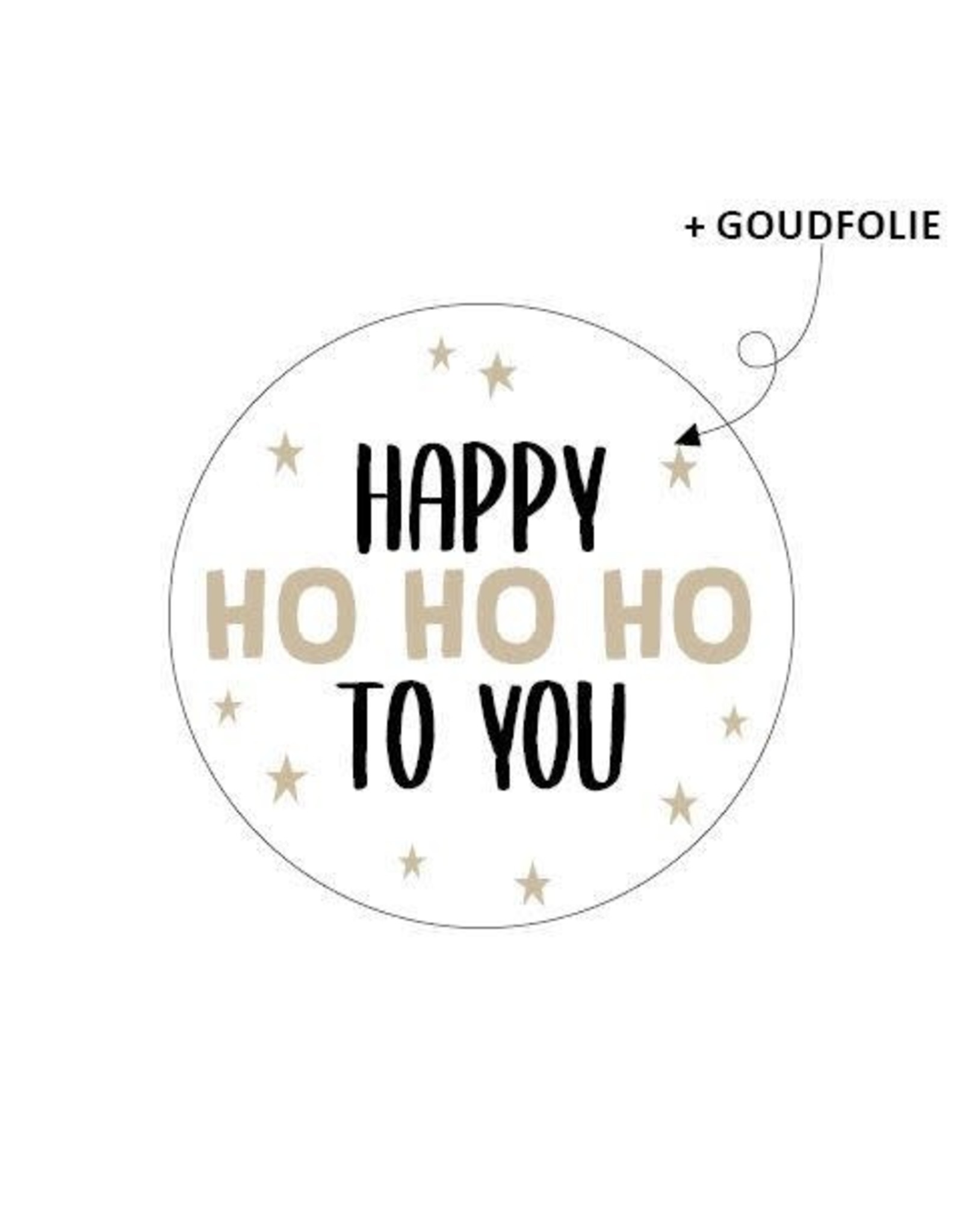 Stickers 5st. Happy Ho Ho Ho to you
