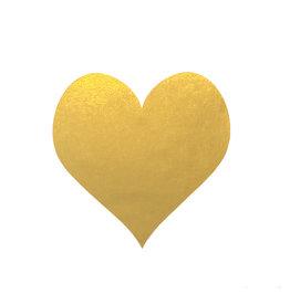 Stickers 5 st. hart goud