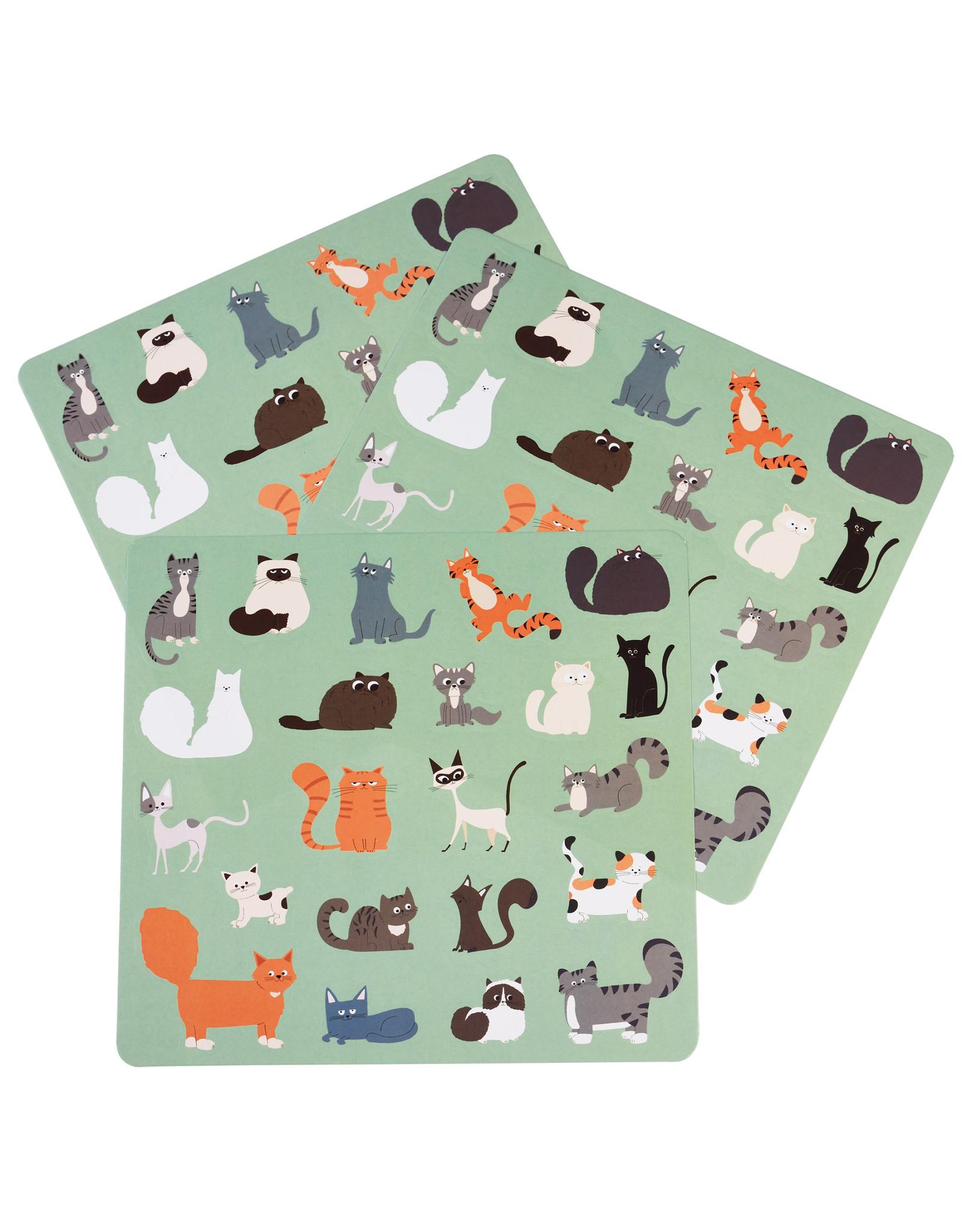 Stickervel (3st.) katten