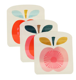 Herbruikbare zakjes (3st.) appel