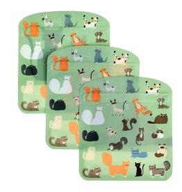 Herbruikbare zakjes (3st.) katten