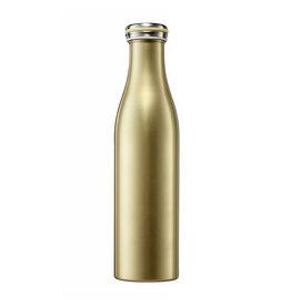 Dubbelwandige fles RVS 750ml goud