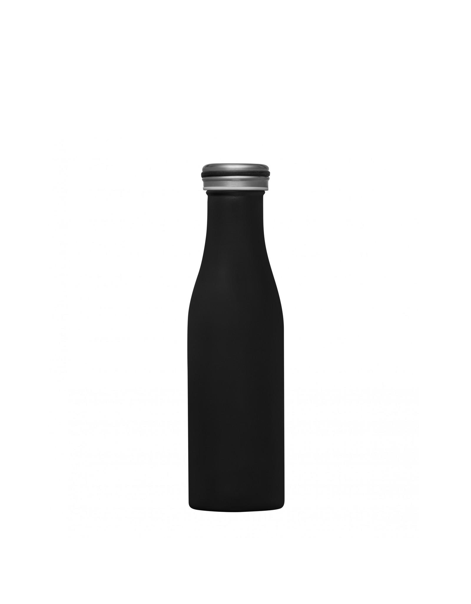 Dubbelwandige fles RVS 500ml zwart