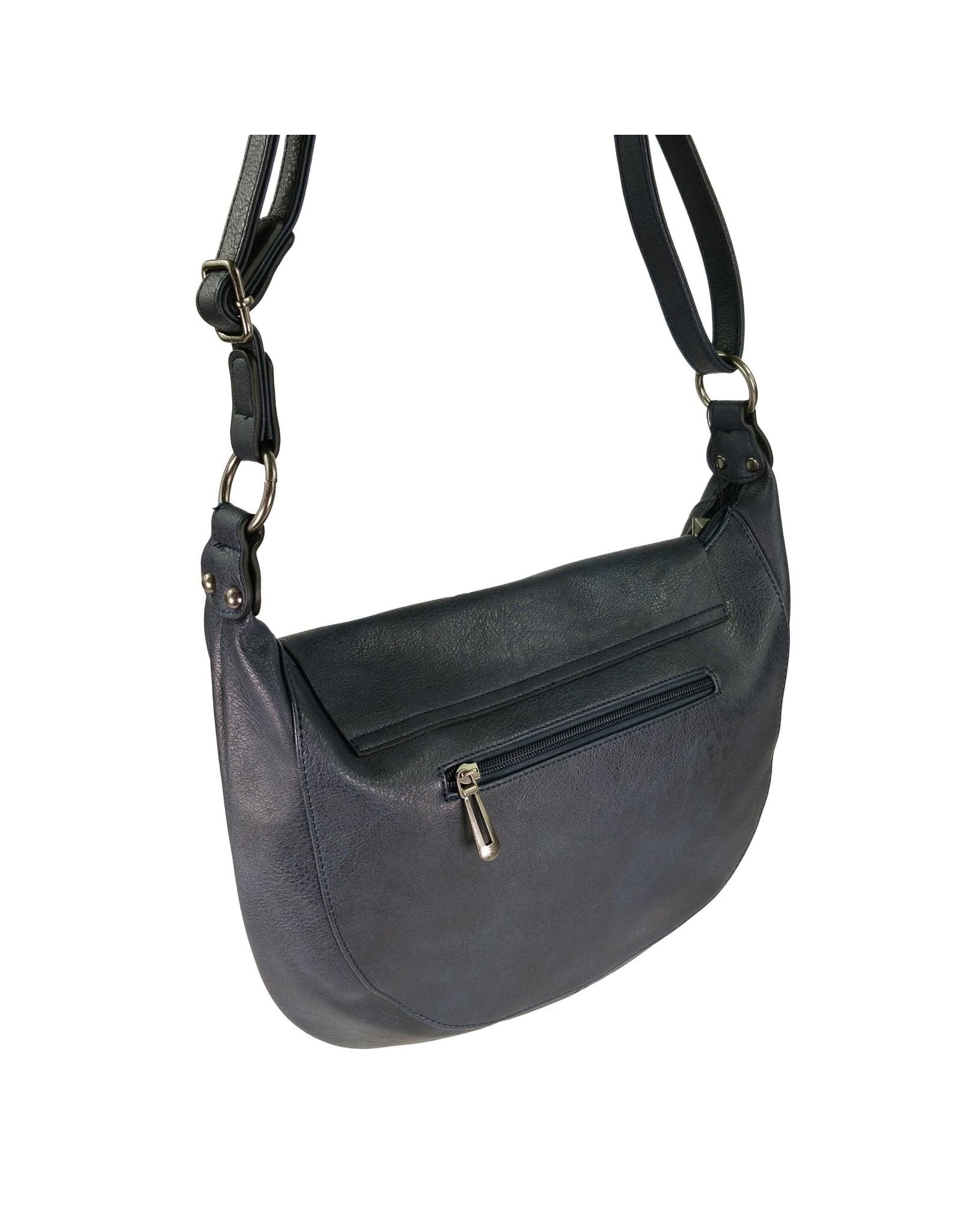 Handtas afgerond donkerblauw