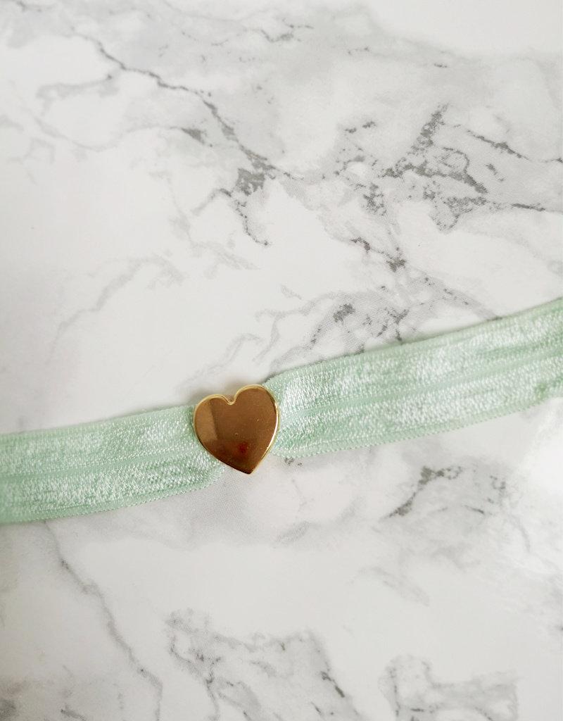 HashtagBaby Armband Roze of Mint Hartje