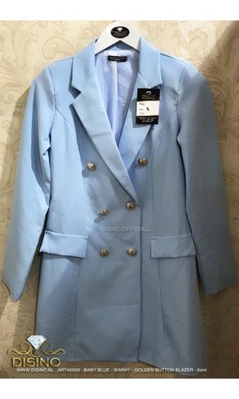 BABYBLUE - 'KIMMY' - GOLD BUTTON BLAZER