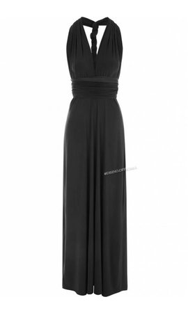 BLACK - MULTI-WAY MAXI DRESS